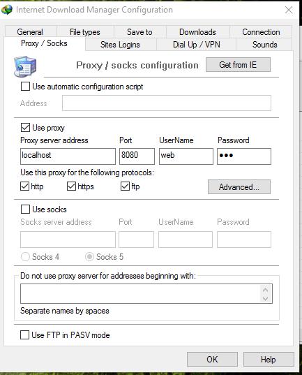 idm serveurs proxy