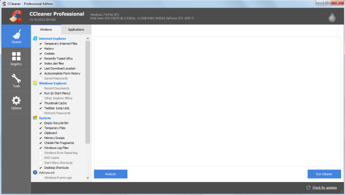 CCleaner Professional 5.43 + Serial