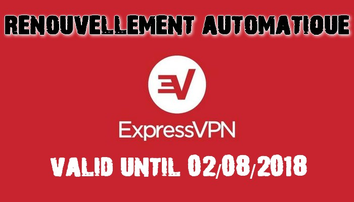 Code d'activation pour Express Vpn 2018
