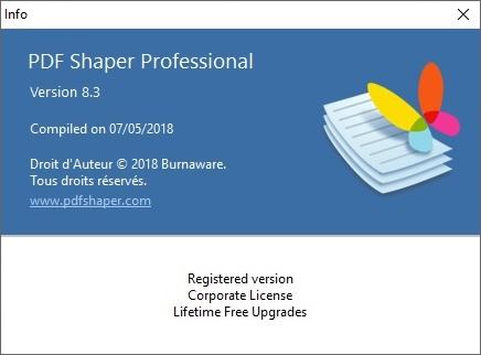 PDF Shaper Professional8.3 FR
