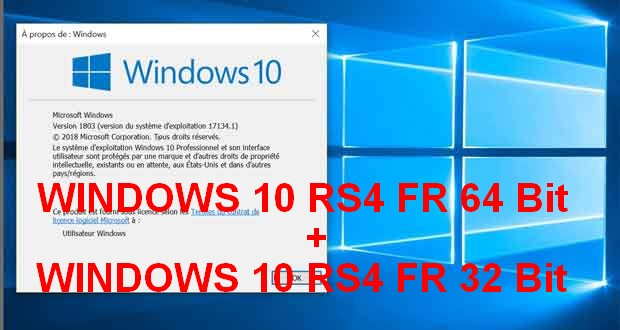 WINDOWS 10 RS4 3IN1 FR Torrent