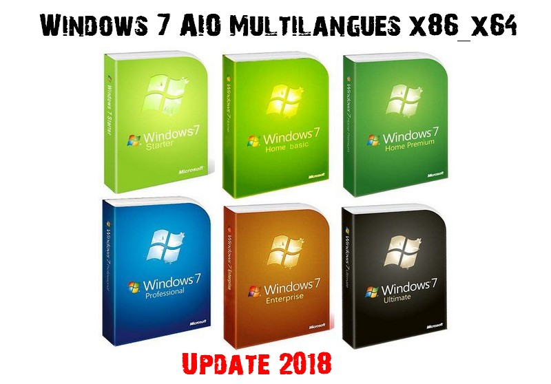 Windows 7 AIO Fr 2018