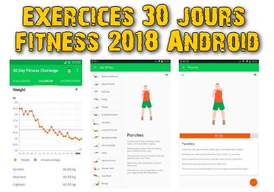 exercices 30 jours fitness 2018 Android