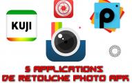 collection des 5 applications de retouche photo Apk
