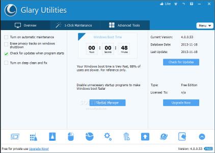 Glary Utilities 2018 + Serial key