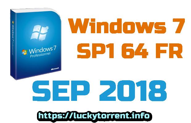 Windows 7 SP1 64 FR SEP 2018 Torrent