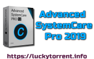 Advanced SystemCare Pro 2019