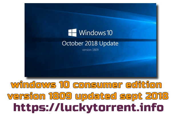 Windows 10 Consumer RS5 Fr x64 Torrent