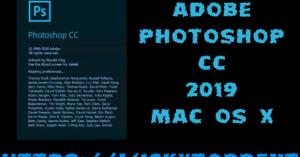 Adobe Photoshop CC 2019 + Crack Mac OS X