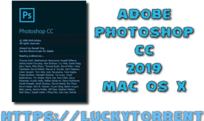 Adobe Photoshop CC 2019 + Crack Mac OS X