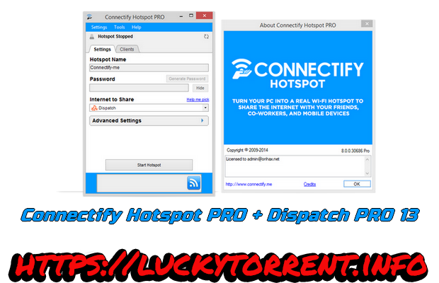 Connectify Hotspot PRO & Dispatch PRO 13 + Crack