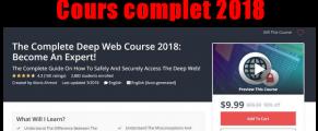 Devenez un expert Deep Web Cours complet 2018