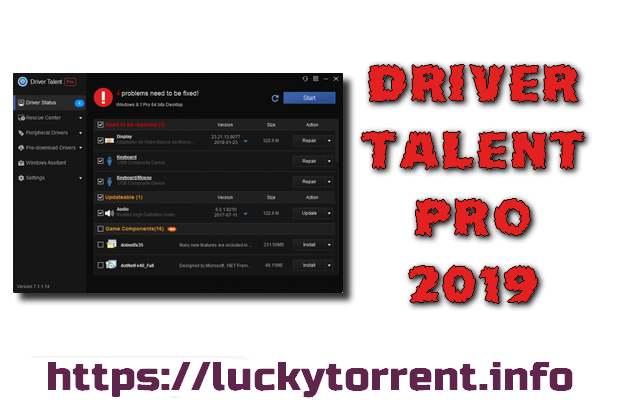 Driver Talent Pro 2019 + Crack