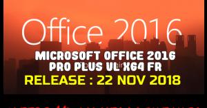 Microsoft Office 2016 Pro Plus VL x64 Fr 2018 Torrent