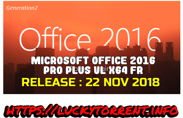 Microsoft Office 2016 Pro Plus VL x64 Fr 2018 Torrent
