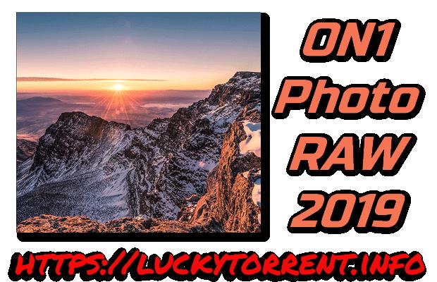 ON1 Photo RAW 2019 Torrent
