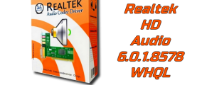 Pilote Realtek HD Audio 6.0.1.8578 WHQL