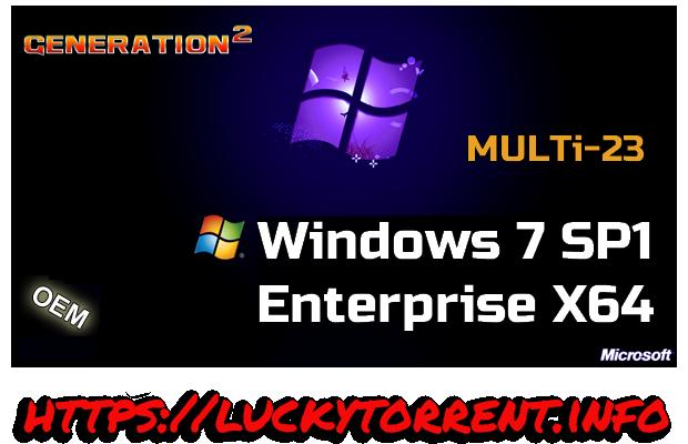 Windows 7 SP1 Enterprise X64 Torrent