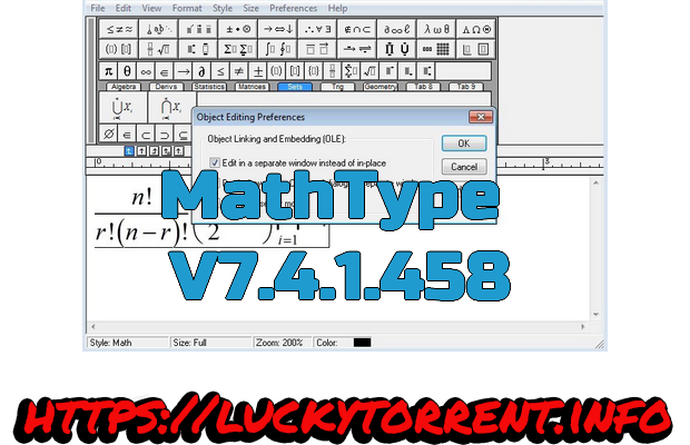 MathType 2019 Torrent