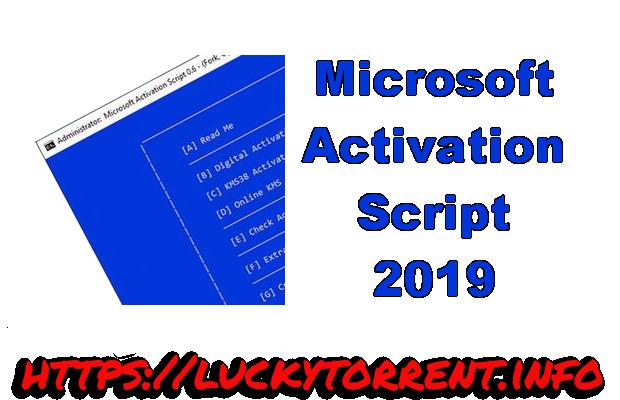 Microsoft Activation Script 2019 Torrent