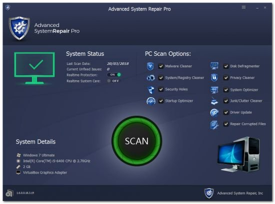 Advanced System Repair Pro 2019