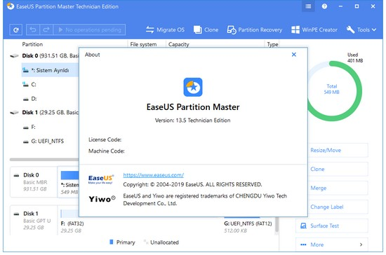 EaseUS Partition Master 2019 Torrent