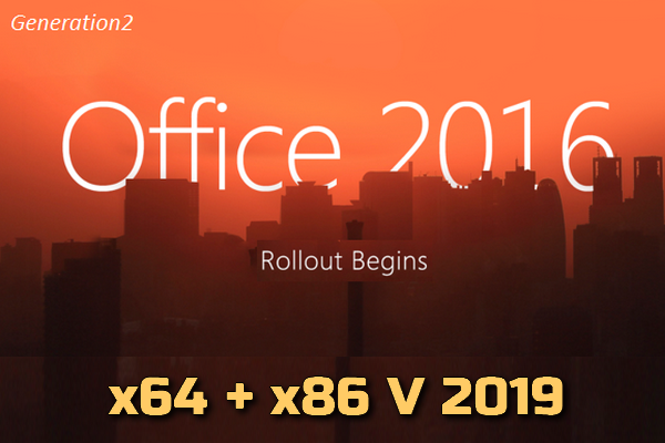 Microsoft Office 2016 Pro Plus VL x64 + x86 Torrent