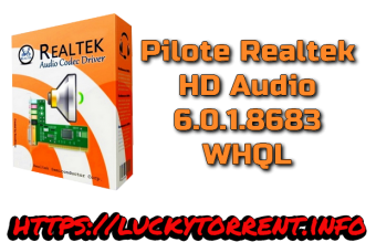 Pilote Realtek HD Audio 6.0.1.8683 WHQL