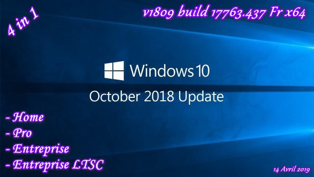 Windows 10 RS5 4in1 Fr x64 Torrent