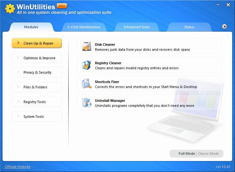 WinUtilities Pro V15.72 + Crack