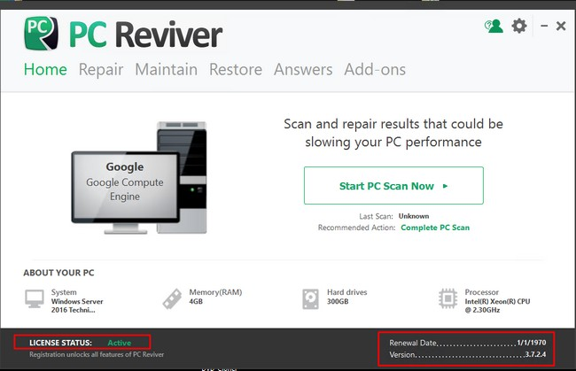ReviverSoft PC Reviver 3.7.2.4