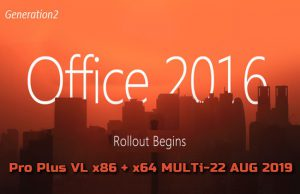 Microsoft Office 2016 Pro Plus VL x64 2019