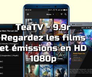TeaTV - Regardez les films et les émissions en HD 1080p 9.9r