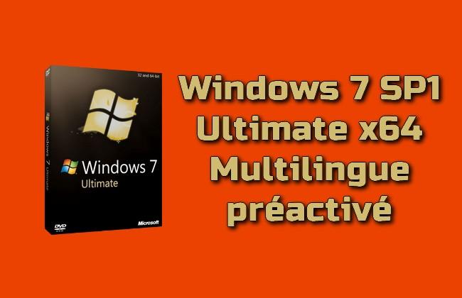 Photo of Windows 7 SP1 Ultimate x64 multilingue préactivé