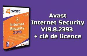 Avast Internet Security 19.8.2393 avec clé de licence