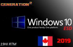 Windows 10 Pro VL X64 FR CA 2019 Torrent