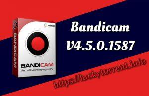 Bandicam v4.5.0.1587 Torrent