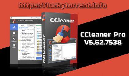 CCleaner Professional v5.62.7538 Torrent