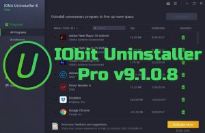 IObit Uninstaller Pro v9.1.0.8 Torrent