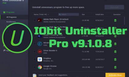 IObit Uninstaller Pro v9.1.0.8 Torrent