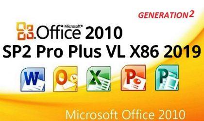 Office 2010 SP2 Pro Plus VL X86 2019