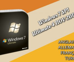 Windows 7 SP1 Ultimate X64 FR 2019