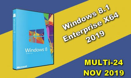 Windows 8.1 Enterprise X64 2019