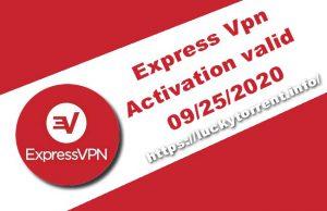 Express Vpn Activation valid 09/25/2020