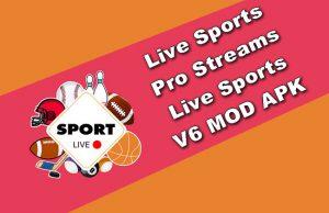 Live Sports Pro Streams Live Sports v6 MOD APK