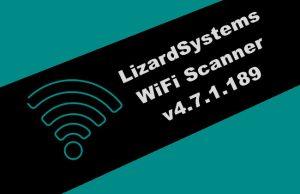 LizardSystems WiFi Scanner v4.7.1.189