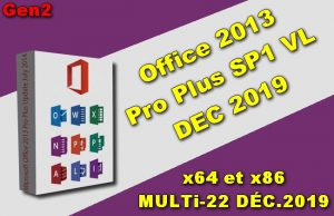 Office 2013 Pro Plus SP1 VL DEC 2019