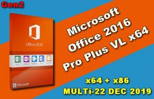 Office 2016 Pro Plus VL DEC 2019
