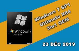 Windows 7 SP1 Ultimate X64 3in1 OEM 23 DÉC 2019