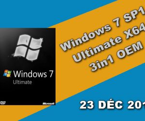 Windows 7 SP1 Ultimate X64 3in1 OEM 23 DÉC 2019